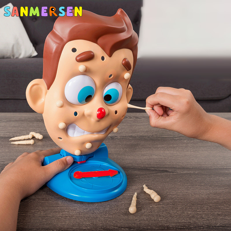Family Party Simulate Face Squeeze Acne Toy Water Spray Popping Pimple Parent-Child Board Games Funny Christmas Novelty Toys