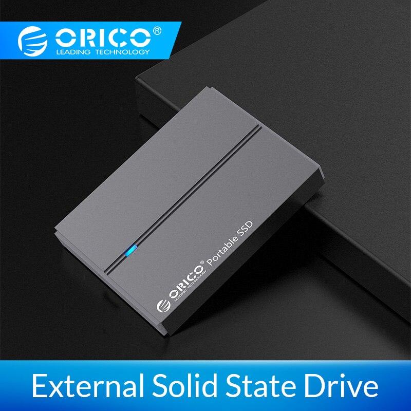 ORICO External SSD Hard Drive 1TB SSD 128GB 256GB 512GB SATA SSD MSATA SSD NVME Portable Solid State Drive With Type C USB 3.1