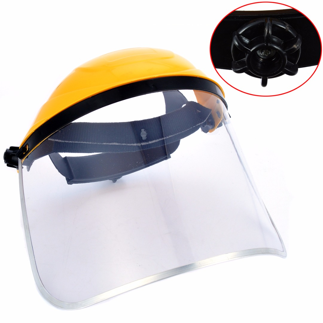 Protective Face Shield Screen Mask Welding Helmet Clear Safety Grinding Face Shield Screen Mask Visors For Eye Face Protection