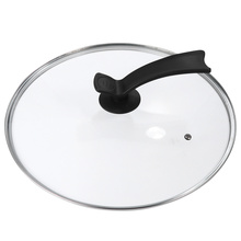 1Pc Universal Round Pot Lid with Standing Handgrip Transparent Glass Pan Pot Cover Replacement Tempered Glass Cookware Lid with