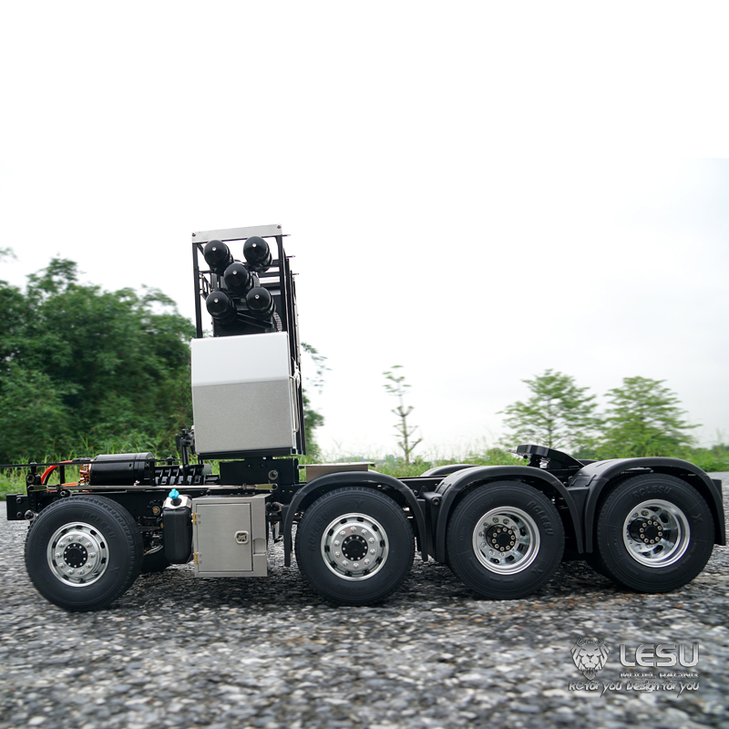 US Stock LESU 1//14 Metal Air Tank RC DIY TAMIYA Benz 3348 Truck Dumper Car Parts