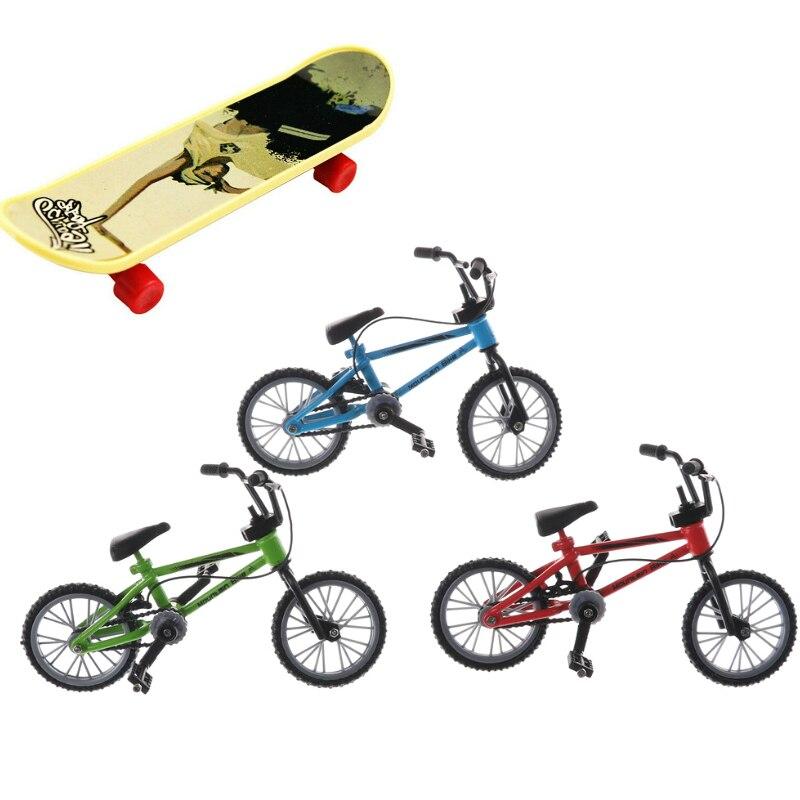 Mountain Bike Fixie Bicycle Skateboard Toy Mini Fuctional Finger BMX Toys Creative Game Workmanship Toy Gift New Random Color
