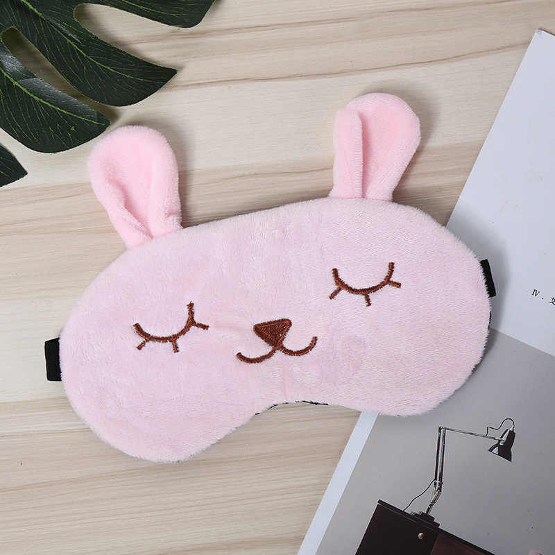 Animal Soft Touch Cartoon Eye Mask Travel Lunch Bunny Break Sleep Shading Breathable Natural Sleep Mask Figures Gift Kids Toys