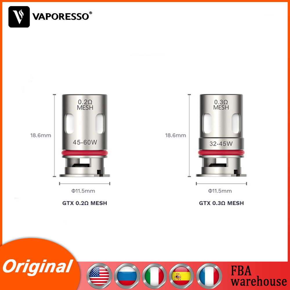 5pcs/box Original Vaporesso Target PM80 GTX Coil 0.2ohm & 0.3ohm Vape Atomizer core for Target PM80 Pod Electronic Cigarette Kit
