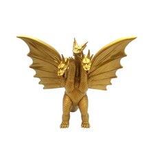 18CM Three-headed Dragon Gojira Gomora 2 Monster King Golden Dragon Hand Doll Model