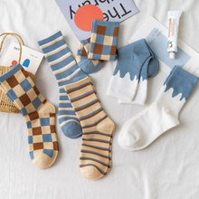 Ins Fashion Square Socks Girls Street Sports Spring summer Solid Middle Tube Soft free shipping Women Cute Elegant Lovely Kawaii