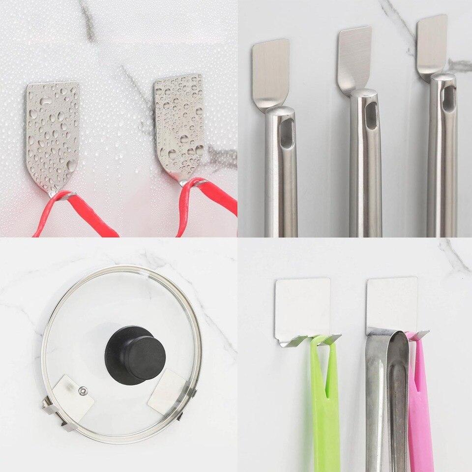 hysagtek 20/pcs grandes de acero inoxidable soporte de S ganchos cocina herramientas resistente en forma de S para colgar ganchos Metal Cocina Pot Pan armario colgador de almacenamiento Rack ganchos