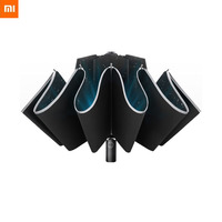 Original Xiaomi Automatic folding automatic open reverse umbrella male creative sunny rain strong reflective anti-wind umbrella