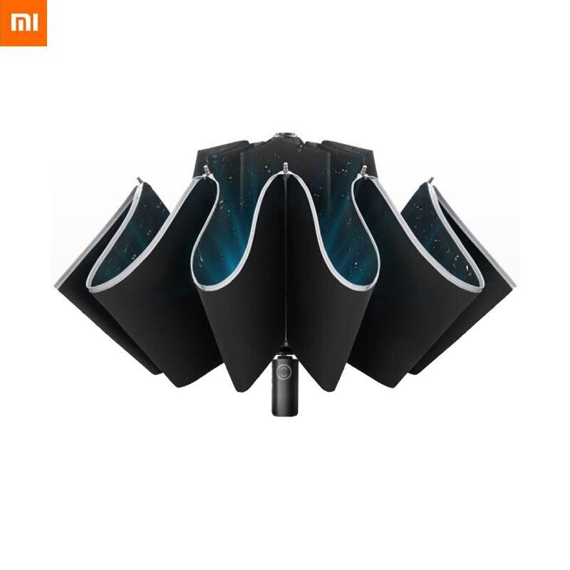 Original Xiaomi Zuo Du Automatic Open Reverse Umbrella Male Creative Sunny Rain Strong Reflective Anti-wind Umbrella