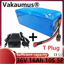 18650 pack 36V Lithium Battery with BMS T plug 10s5p 16ah/16000ah powerful  batteries for electric bike ebike escooter  VAKAUMUS eu us free tax 36v 500w 350w ebike 36v 17ah bottle battery pack electric bike dolphin lithium battery with usb and bms