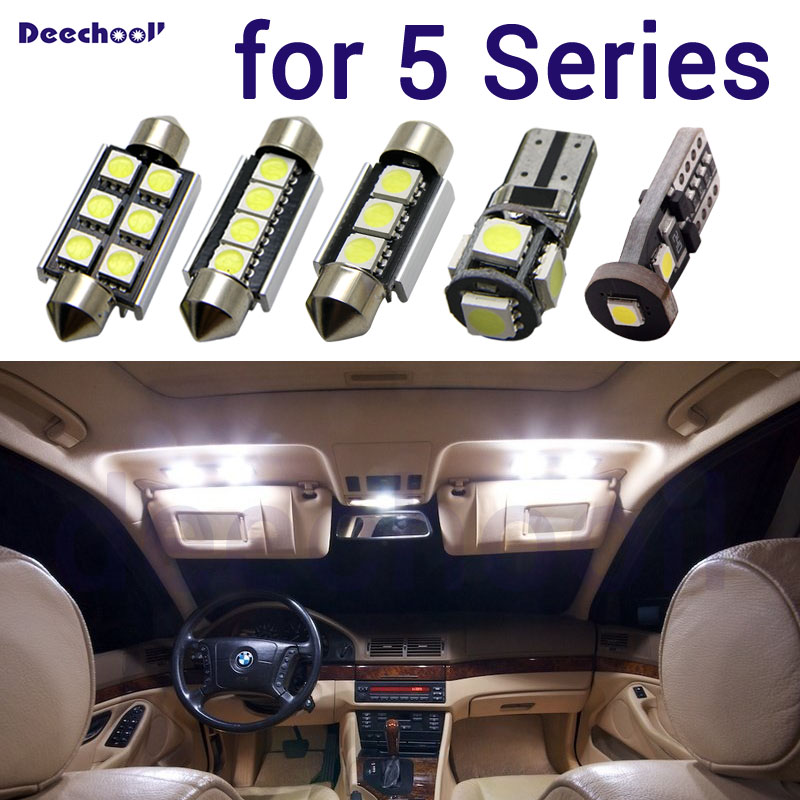21pcs White Car LED Interior Light Kit For BMW 5 Series F11 Panoramic Roof Lamps