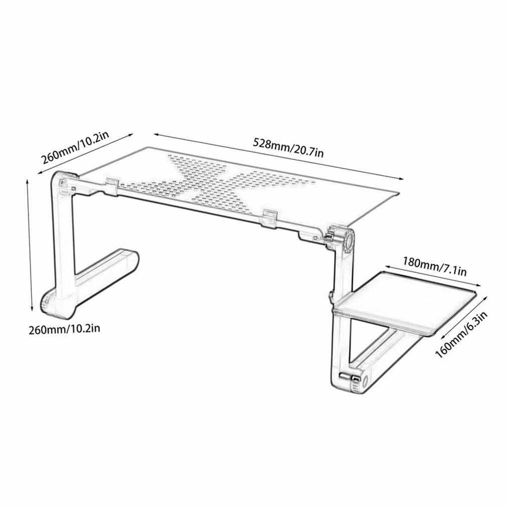 Алюминиевый сплав компьютерные столы Портативный Регулируемый складной ноутбук Lap PC складной стол вентилируемая подставка поднос кровати