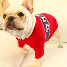 TPFOCUS Autumn Winter Pet Clothes Dog Sweater New Year Santa Claus Red Christmas