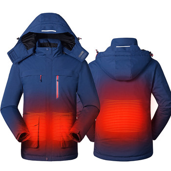 Men Women Outdoor USB Infrared Heating Jacket fishing Vest Winter Clothes Men Carbon Fiber Electric Thermal Clothing Waistcoat