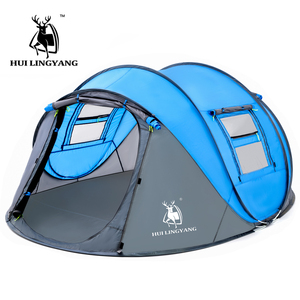 Image 1 - Large throw tent outdoor 3 4 6 persons automatic speed open throwing pop up windproof waterproof beach camping tent large space