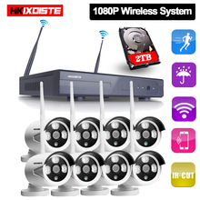 Plug And Play 8CH Wireless NVR Kit P2P 1080P HD Outdoor IR Night Vision IP Video Security CCTV Camera WIFI Surveillance System new listing plug and play hd 720p outdoor waterpfoof wifi security camera system video surveillance wireless ip cctv system