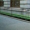 Декоративный ограждение из палисадной ограды стальной черный заостренный верх 150 см водостойкий материал ограждение из палисадной ограды