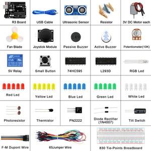 Image 3 - Le Kit de démarrage de base LAFVIN comprend un capteur à ultrasons, un fil de raccordement pour Arduino pour UNO avec tutoriel