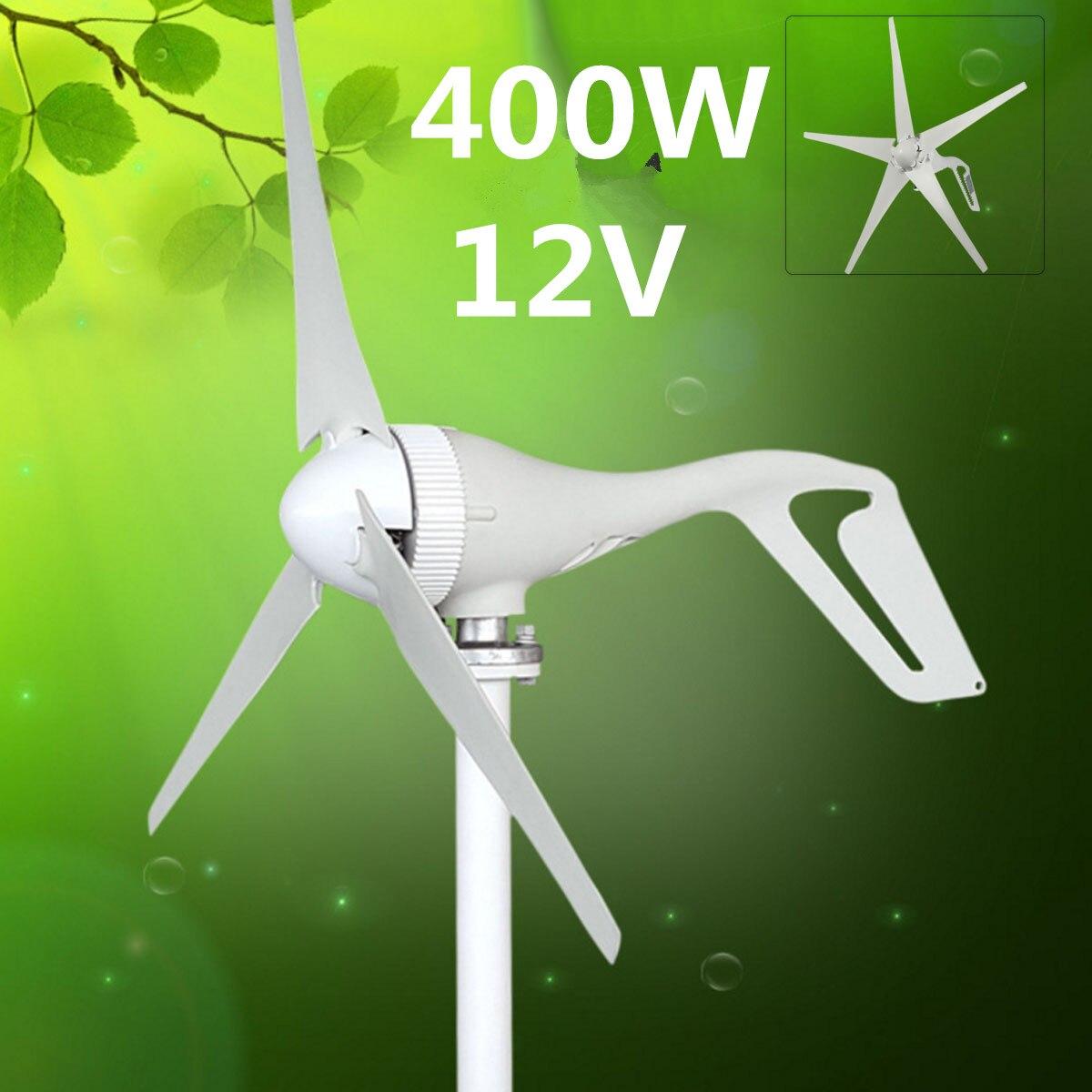 DC 12V Max 600W Wind Tur bine Generator 5 Blade Household Wind Generator 12V/24V 600W Permanent Magnet Generator Tu rbine