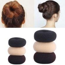 S/M/L Размер, волшебный пончик, форма, кольцо для волос в пучок, женская и женская мода, простая нейлоновая резинка для волос, инструмент для ук...