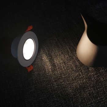 LED recessed downlight lamp 7W Round Lamp AC85-265V Led Bedroom Kitchen Indoor illumination angle adjustment down light