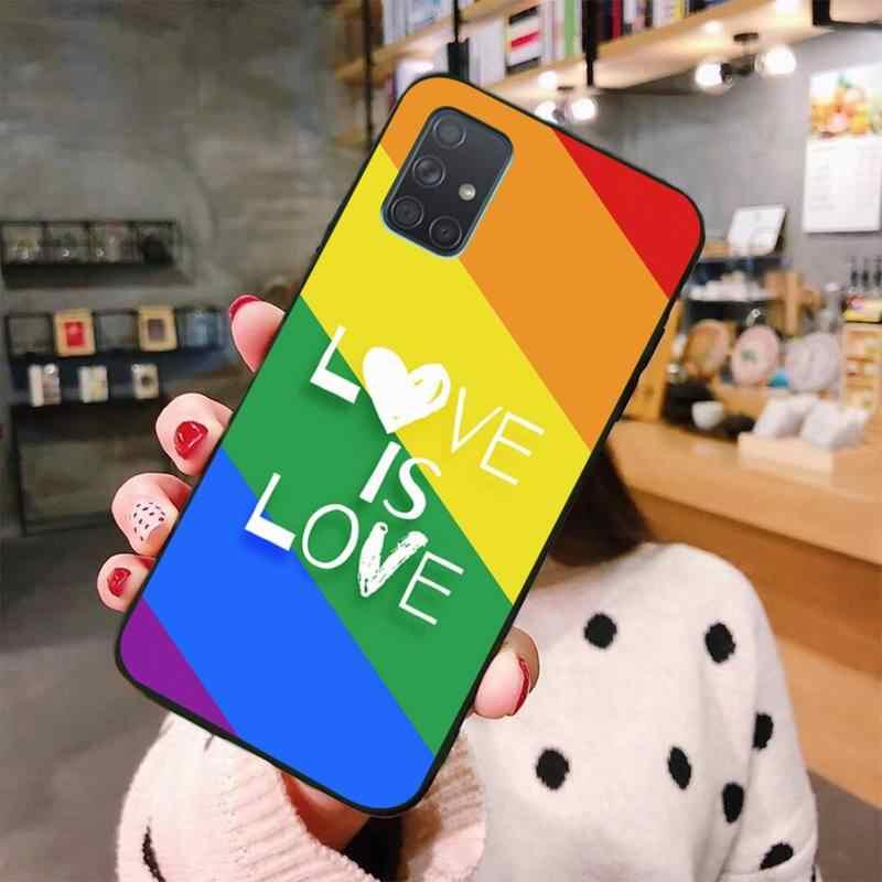 게이 레즈비언 LGBT 레인보우 프라이드 고객 삼성 A10 A20 A30 A40 A50 A70 A80 A71 A91 A51 A6 A8 2018