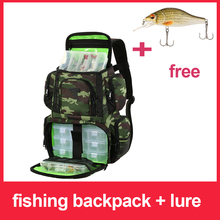 Lixada Fishing Backpack Waterproof Fishing Lures Reel Bag Adjustable S