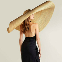 Women Lady Sun Straw Hat Wide Brim Cap Foldable Breathable for Summer Beach JL