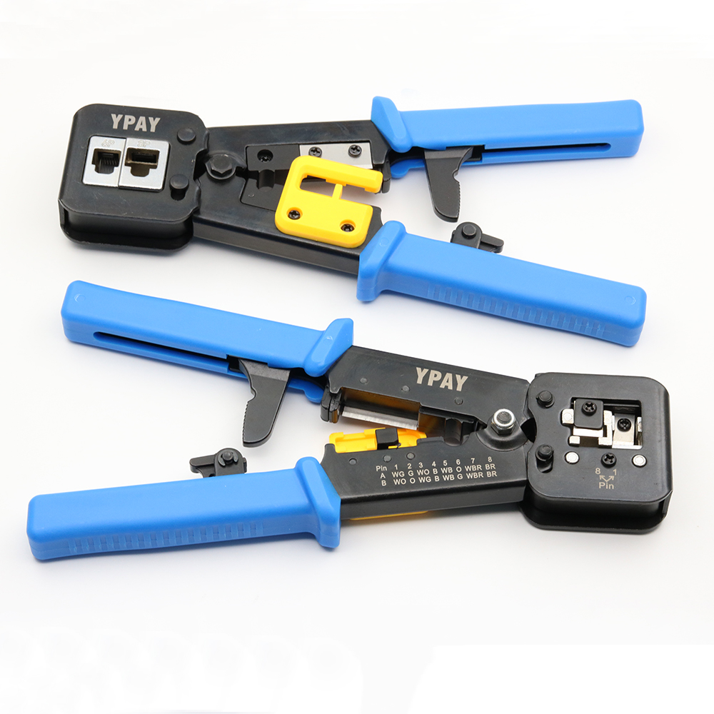 YPAY EZ Rj45 Cable Tools Crimper Rg45 Ethernet Internet Network Pliers Rj12 CAT5 CAT6 Wire Stripper Clamp Tongs Multifunction 2