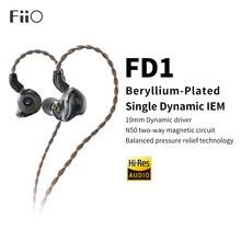 FiiO FD1 Beryllium-Plated Single Dynamic HiFi Earphone Deep