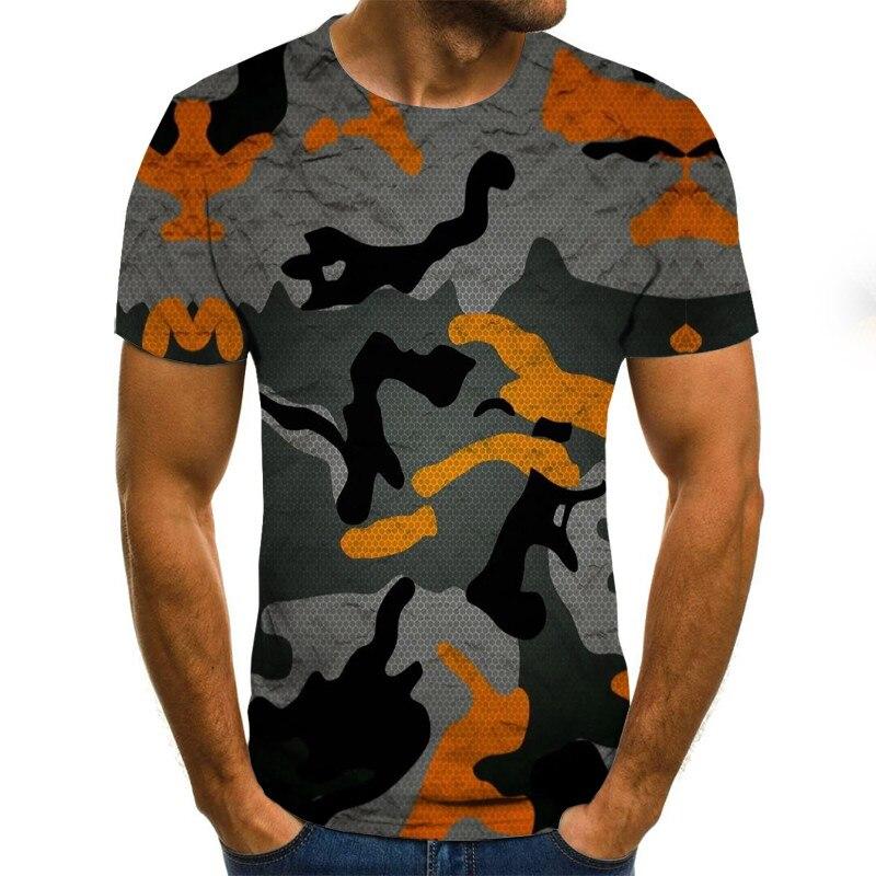 2020 Summer Harajuku New Creative Style 3D T-shirt With Fashionable Short-sleeved Funny Man Hip-hop Fashion T-shirt