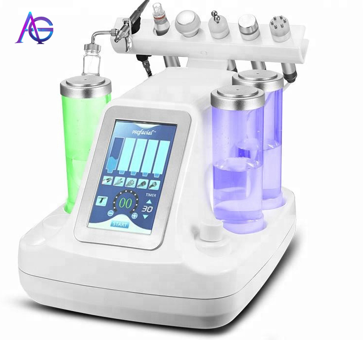 Adg 6 IN ONE Professional Hydra Oxygen Facial Deep Cleaning Skin Care Machine With Feedback
