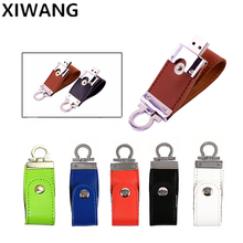 Leather Style Flash Memory Stick 8GB USB 2.0 High-Speed USB Flash Drive 16GB 32GB Pendrive 64GB Pen Drive 128 GB Business U Disk