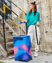 Origiinal Graffiti Blue Suitcase Luggages Custom TSA Lock Spinner Wheel Lightweight Carry Luggage Case Outdoor Travel 20 24 28