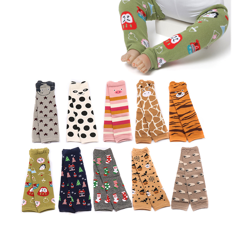 Baby Leg Warmers Winter Kids Knee Pads Cartoon Toddler Knee Protector Boy Girl Safety Crawling Cusion Newborn Knitted Leggings