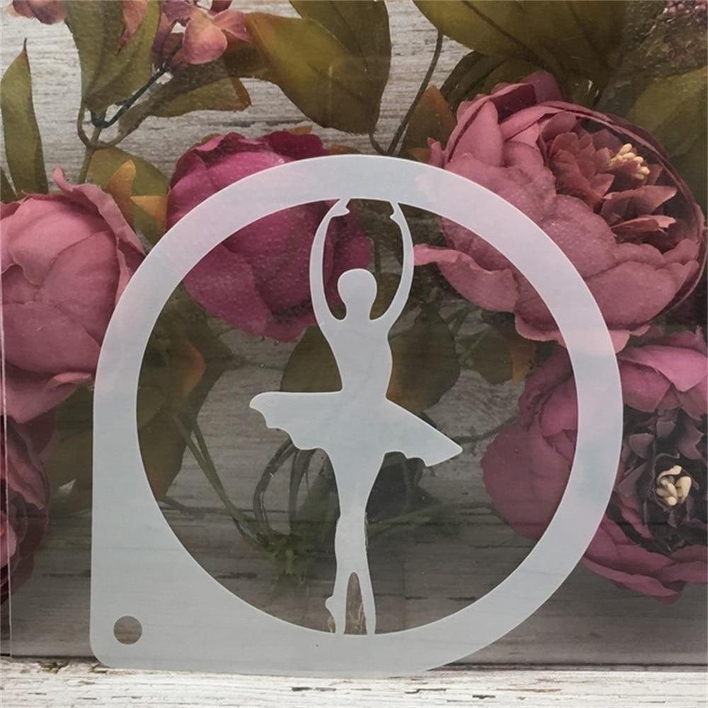 15cm Ballet Dance Girl E DIY Craft Layering Stencils Painting Scrapbooking Stamping Embossing Album Paper Card Template
