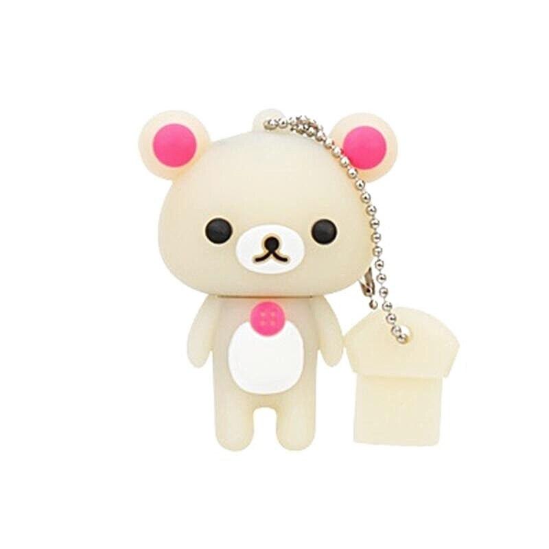 super mini pen drive 128gb Creative Cartoon Bear USB Flash Drive 8gb Pendrive 16gb USB Memory stick 32GB 64GB Usb 2.0 flash disk (7)