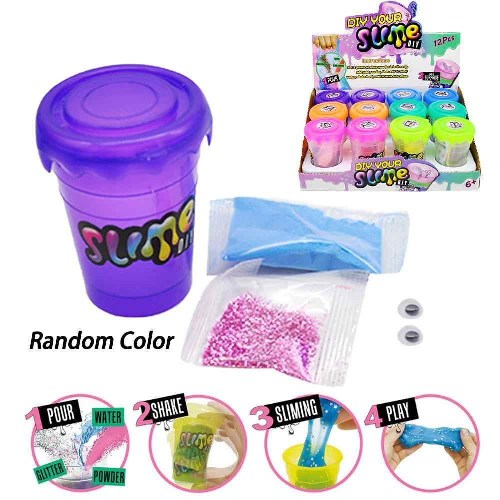 Children's Toys DIY Mucus Set Shake Powder Puffy Slime Diy Set Canned Pigments Decorative Filling Accessories Toys Pearl Powder