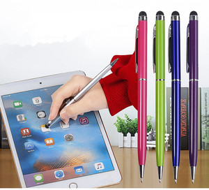 1PC 2 in 1 Capacitive Resistive Pen Touch Screen Stylus Pencil for Tablet iPad Cell Phone Samsung PC Stylus Capacitive Pen(China)