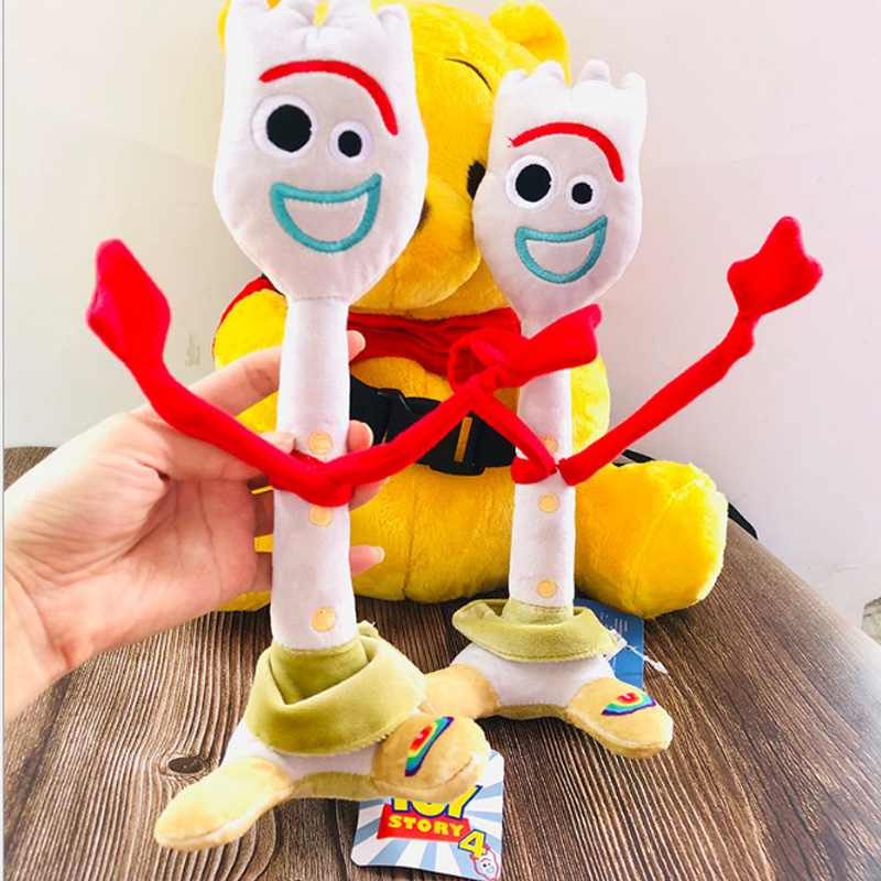 High Quality 15cm 26cm Toy Story 4  Forky Buzz Lightyear Woody Soft Plush Toy Stuffed Doll Figure Cartoon Toys For Children Gift