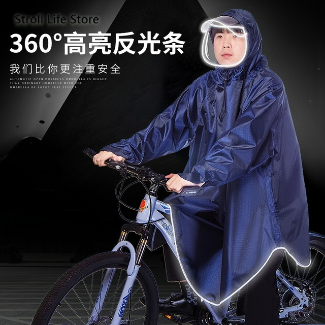 Electric Bicycle Riding Raincoat Adult Thickened Rain Poncho Bicycle Rainwear Woemn Men Rain Coat Capa De Chuva Gift Ideas 4
