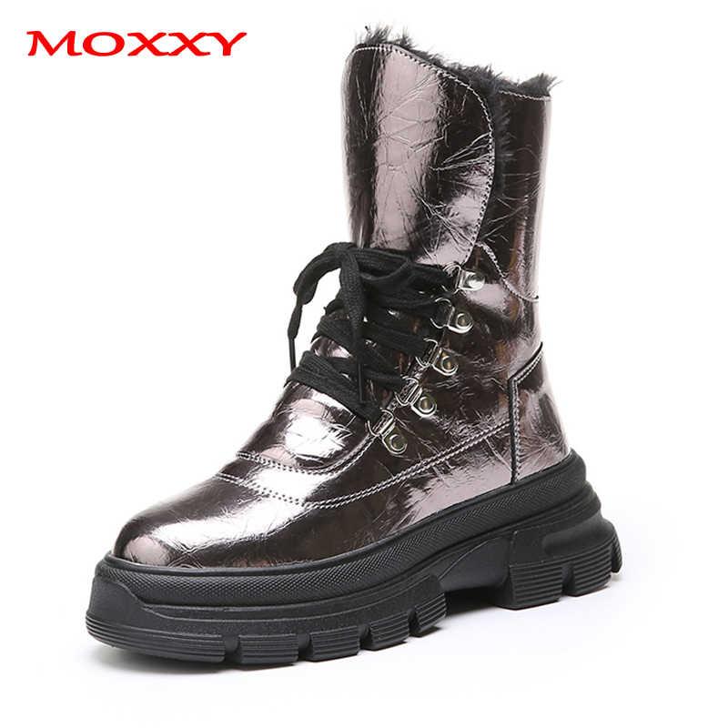 2019 novo designer de alta parte superior das sapatilhas das mulheres sapatos prata glitter couro inverno tênis pele quente pelúcia chunky plataforma