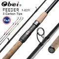 Obei フィーダー釣竿スピニングキャスティングロッド旅行ロッド 3.6 メートルバラデペスカ fuji 鯉フィーダー 40-200 グラムポール