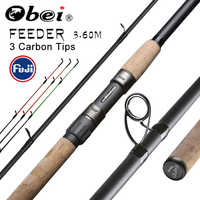 Obei feeder canna da pesca spinning al casting Asta di Viaggi 3.6m vara de pesca fuji Carpa Alimentatore 40-200g pole