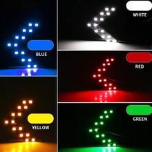Auto specchietto retrovisore laterale Auto 14SMD LED lampada indicatore di direzione accessori luce bianco blu rosso giallo verde colore può scegliere