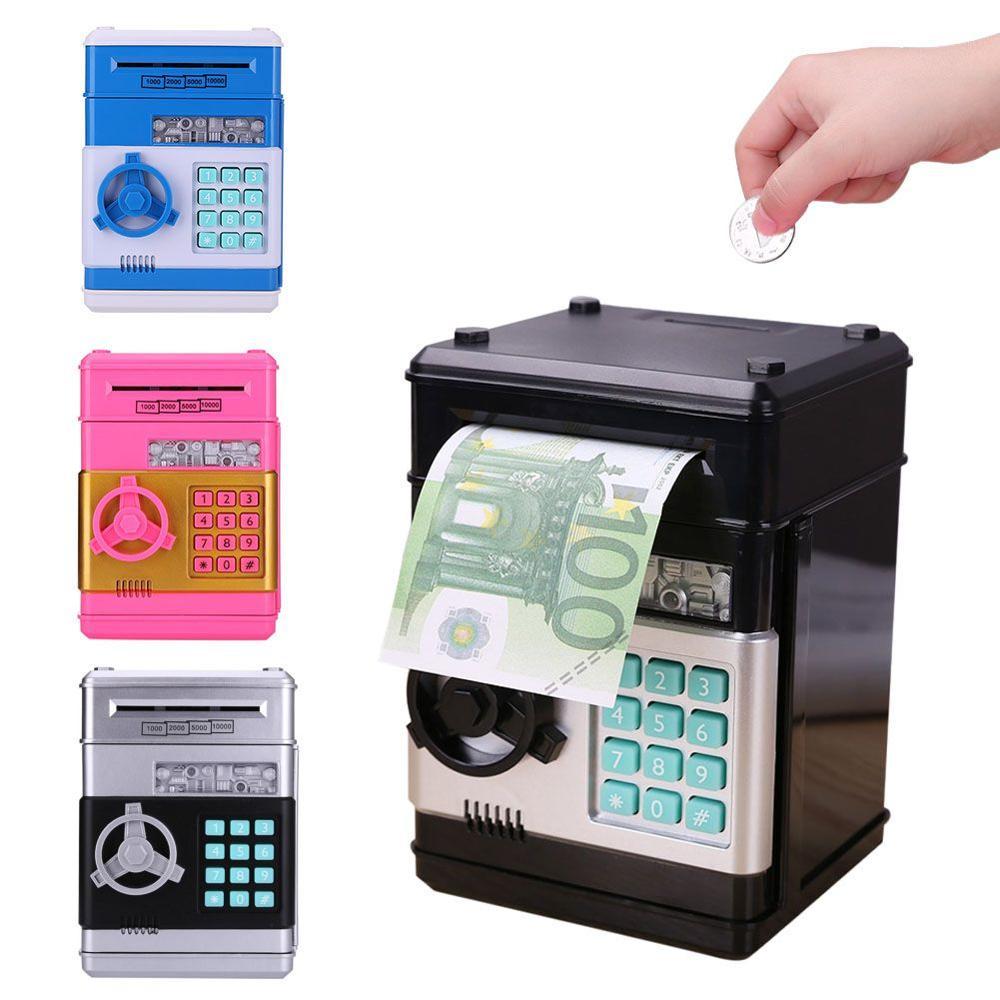 Hucha autom/ática para Ahorrar Dinero dise/ño de Monedas Azul hogar Medium TTAototech