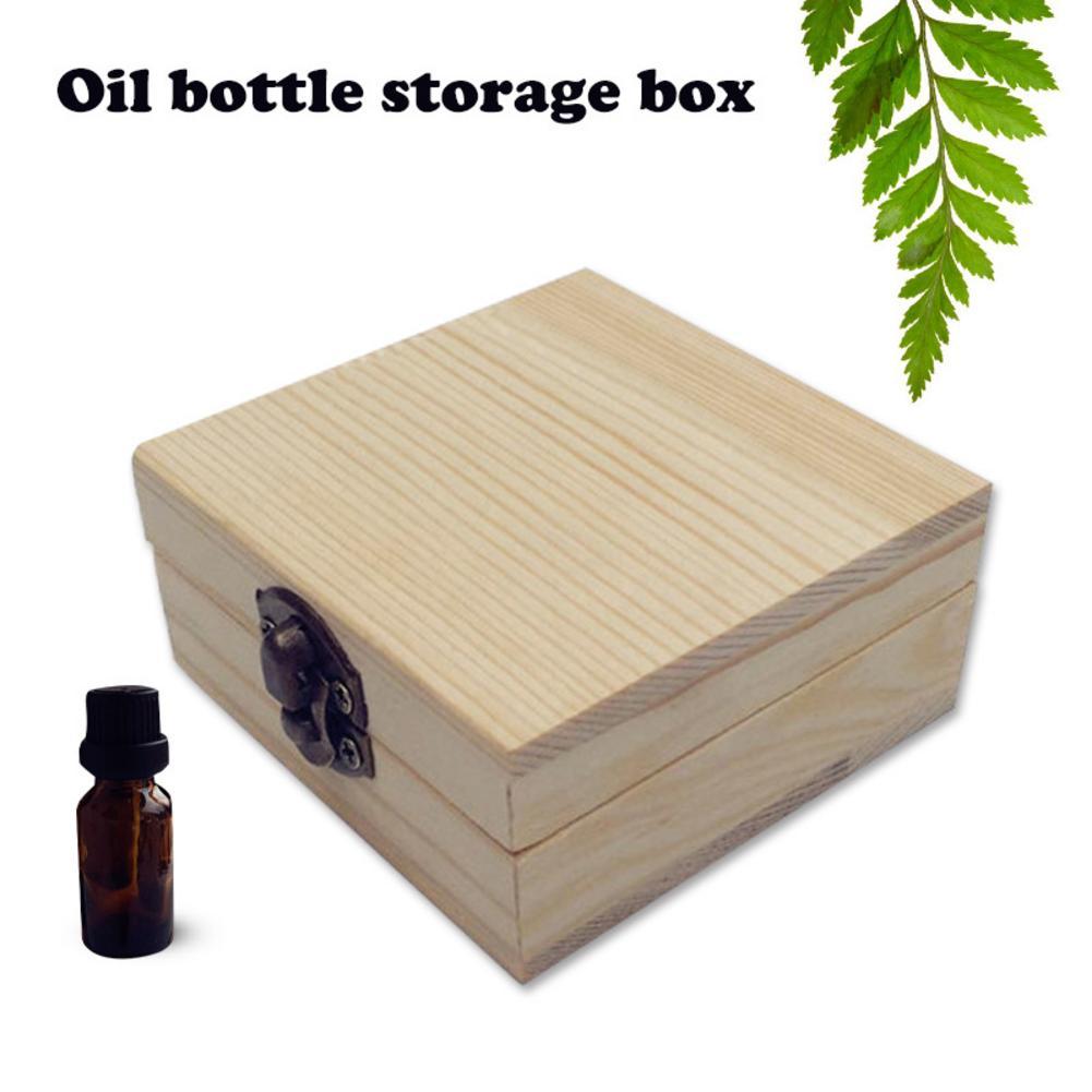 2 Bottles Storage Box Wooden Essential Oil Bottles Storage Box Case 5ML Aromatherapy Bottles Packing Storage Case Wholesale in Storage Boxes Bins from Home Garden