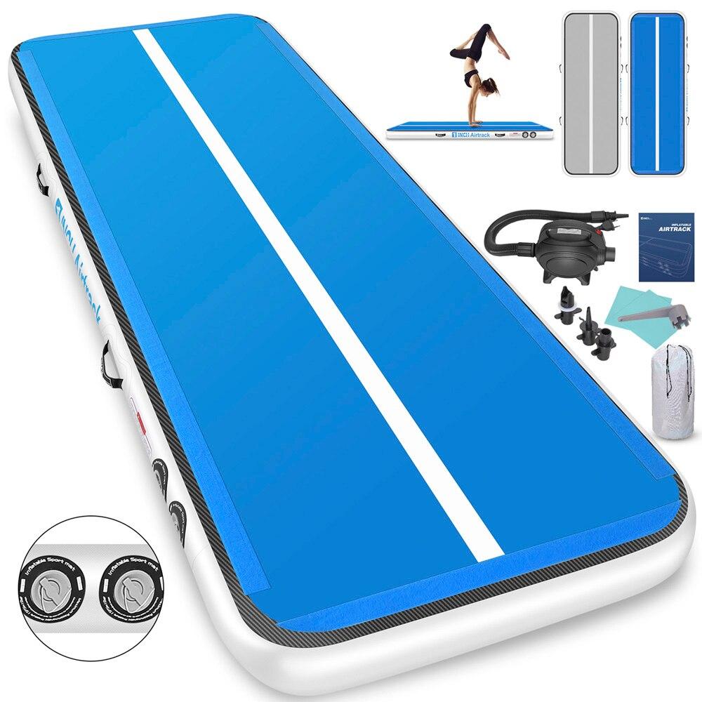 3m*1m*0.15m Thicken Gymnastics Airtrack Tumble Track Gymnastics Air Mat Infalatable Gym Mat Yoga Mat With Free Electric Air Pump