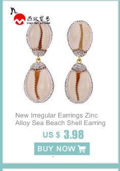 Genuine Leather Teardrop Earrings Shell Summer Beach Multiple Sizes