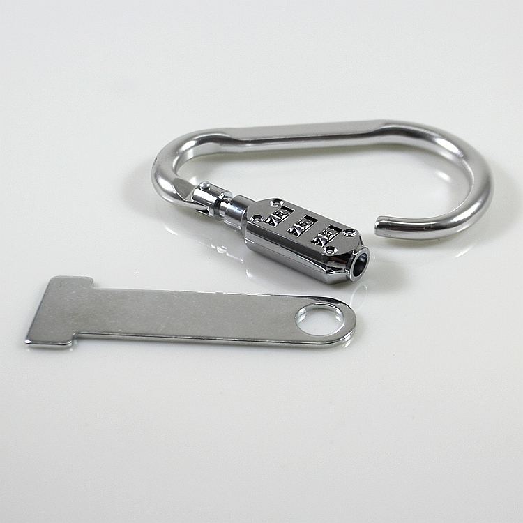 3 Digit Combination Bicycle Bag Suitcase Padlock Carabiner Security Lock Strap Extender Scooter Offroad Cafe Racer
